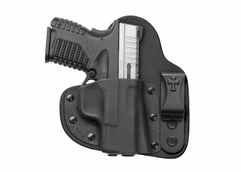 Appendix Carry IWB Concealed Carry Holster with Springfield XDs - Black Cowhide