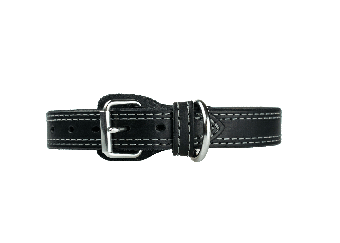 CrossBreed® Holsters K-9 collar -Black with Stainless Hardware.