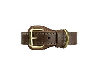 CrossBreed® Holsters K-9 Collar-Brown With Brass Hardware.