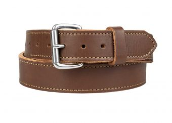 Quick Ship Classic Gun Belt - Brown - Stainless Buckle