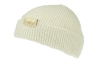 CrossBreed® Holsters Women's Knit Beanie - Oatmeal With Leather Logo Tag
