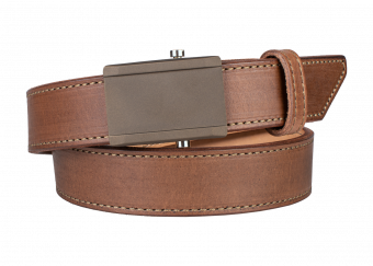 Quick Ship Crossover Belt - Brown