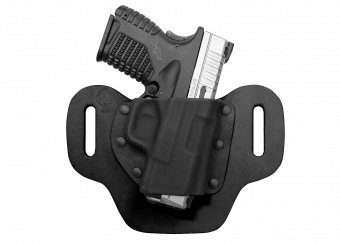 DropSlide OWB Concealed Carry Holster with XDs - Black Cowhide
