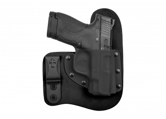 Freedom Carry IWB Concealed Carry Holster with Smith and Wesson Shield - Black Cowhide