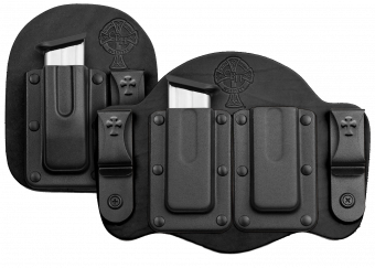 Tuckable IWB Concealed Carry Magazine Carrier - Black Cowhide