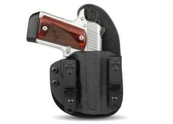 CrossBreed® Holsters - Micro Reckoning - Black Cowhide Leather - Black Kydex - Kimber Micro 9