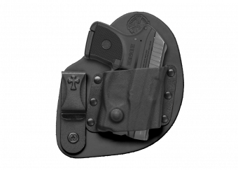 MicroClip IWB Concealed Carry Holster with Ruger LCP - Black Cowhide
