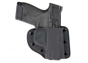 Mini Pac Mat Modular Holster with Smith & Wesson M&P Shield - Front View