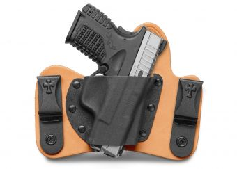 MiniTuck IWB Concealed Carry Holster with Springfield Armory XDs - Horsehide