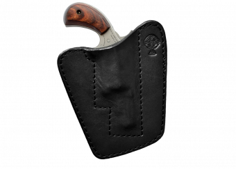 NAA Concealed Carry Pocket Holster with NAA .22 Magnum Wasp - Black Cowhide