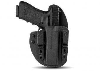 Quick Ship Reckoning Holster- Glock 17 - Black Cowhide - Black Kydex