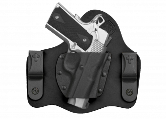 OverStock QS SuperTuck Holster - Black Cowhide - with 1911