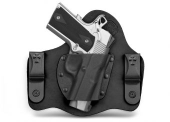 SuperTuck IWB Concealed Carry Holster with 1911 - Black Cowhide