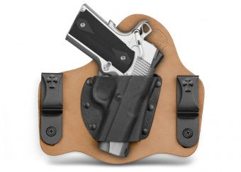 SuperTuck IWB Concealed Carry Holster with 1911 - Horsehide