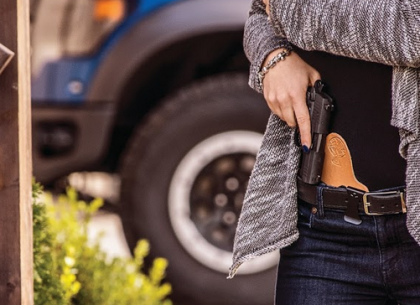 women, female, concealed carry women, female gun owners, female shooters, CCP, women who concealed carry, Walther, Jenn Jacques, PK380, self-defense, women, concealed carry, hybrid holsters, guns, gun rights, EDC, best holster, OWB, CrossBreed Holsters, Glock, SIG, Smith & Wesson, Shield, P365, Brownells, personal protection, everyday carry, best holster for women, holster for women, holsters, made in america, women who carry, pistols, handguns, girl's guide to, Mark Craighead, CrossBreed Holsters, best holster, SuperTuck, MiniTuck, gun belt, firearms training, CCW