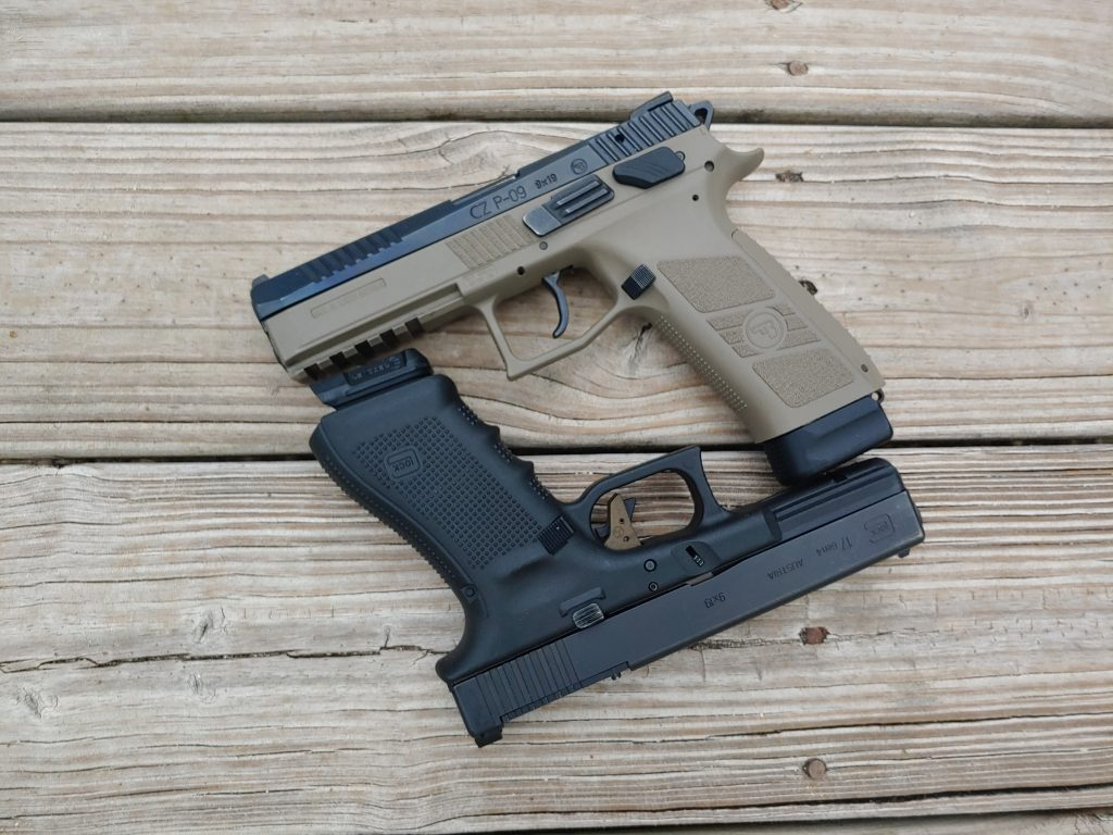 Glock, CZ, Glock 17, G17, Glock G17, CZ, CZ 09, CZ P09, 09, showdown, CrossBreed Holsters, holsters, IWB, OWB, holster, hybrid holsters, good guys, concealed carry, pistols, handguns, EDC, self defense, everyday carry