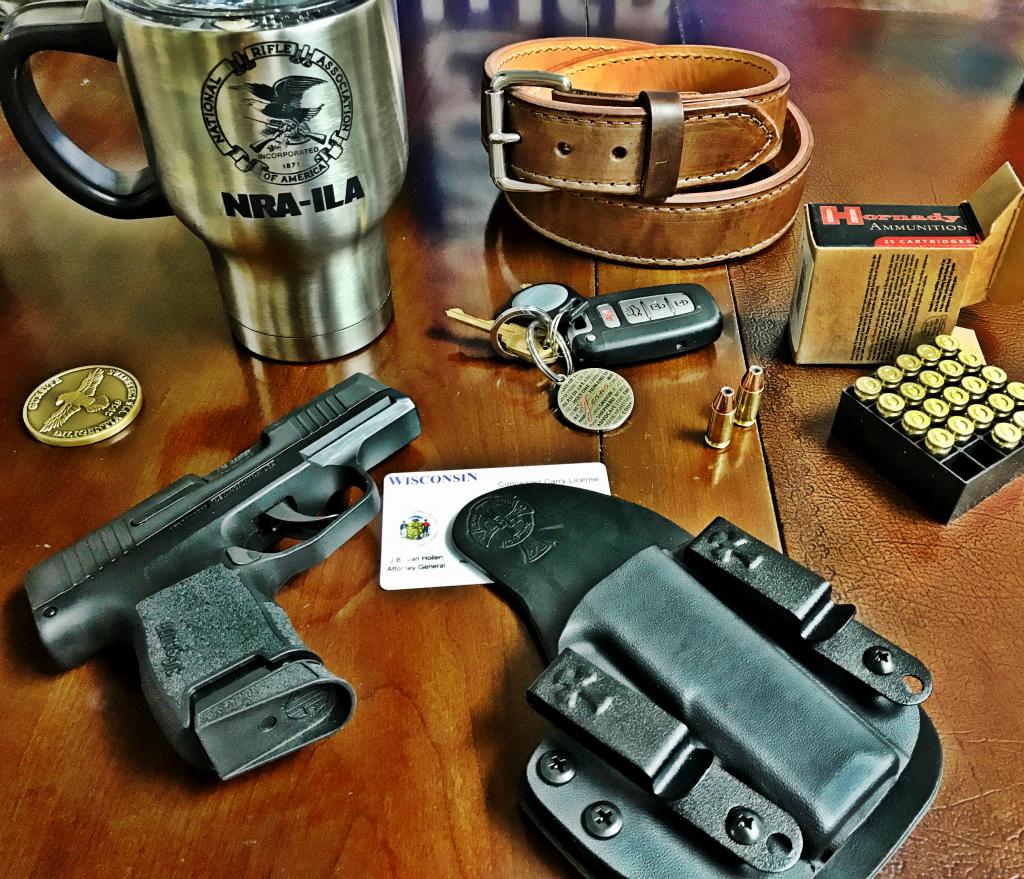 Concealed carry guns, concealed carry, gun rights, holsters, concealed carry holster, the reckoning holster, gun belt, gunsite academy, hornady, ammo, hornady ammo, kia, wisconsin, nra-ila, gun holster, hybrid holster, most comfortable holsters