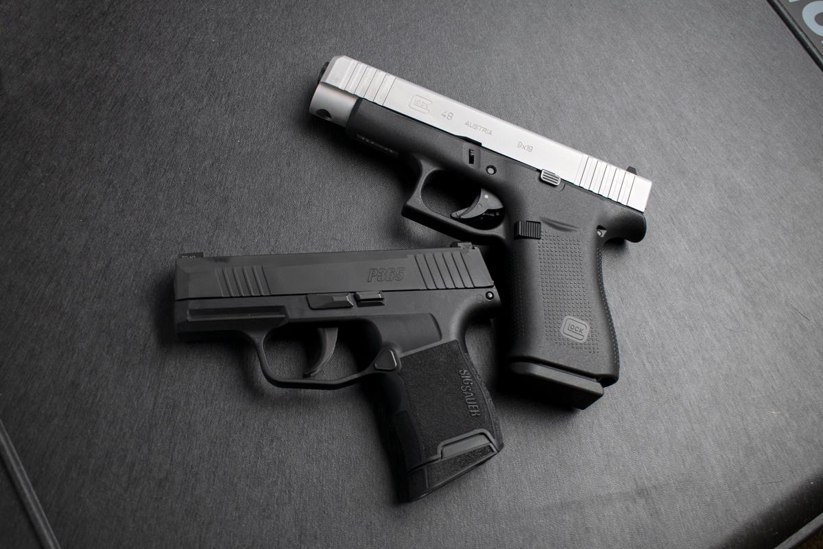 Glock, SIG, P365, G48, concealed carry, SIG P365, Sig Sauer, Glock 48, IWB Holsters, concealed carry holsters, 9mm, pistols, carry guns, showdown, Glock or SIG, 365, IWB, best holster, concealed carry pistol