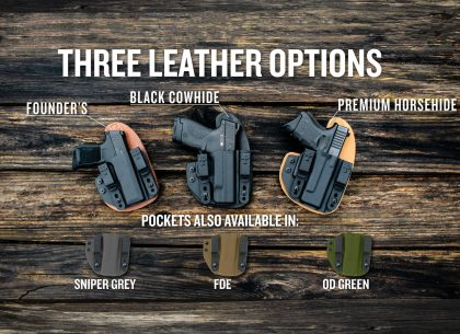 new products, new firearm fits, the reckoning holster, crossbreed holsters, hybrid holsters, gun belts, IWB, OWB, concealed carry, open carry, made in america, american made, holster, most comfortable holster, best holster, best holsters, OTIS Cleaners, guns, carry guns, OTIS, gun cleaners, gun cleaning kit, gun belts, leather belts, micro reckoning, micro pistols, pistols, carry guns