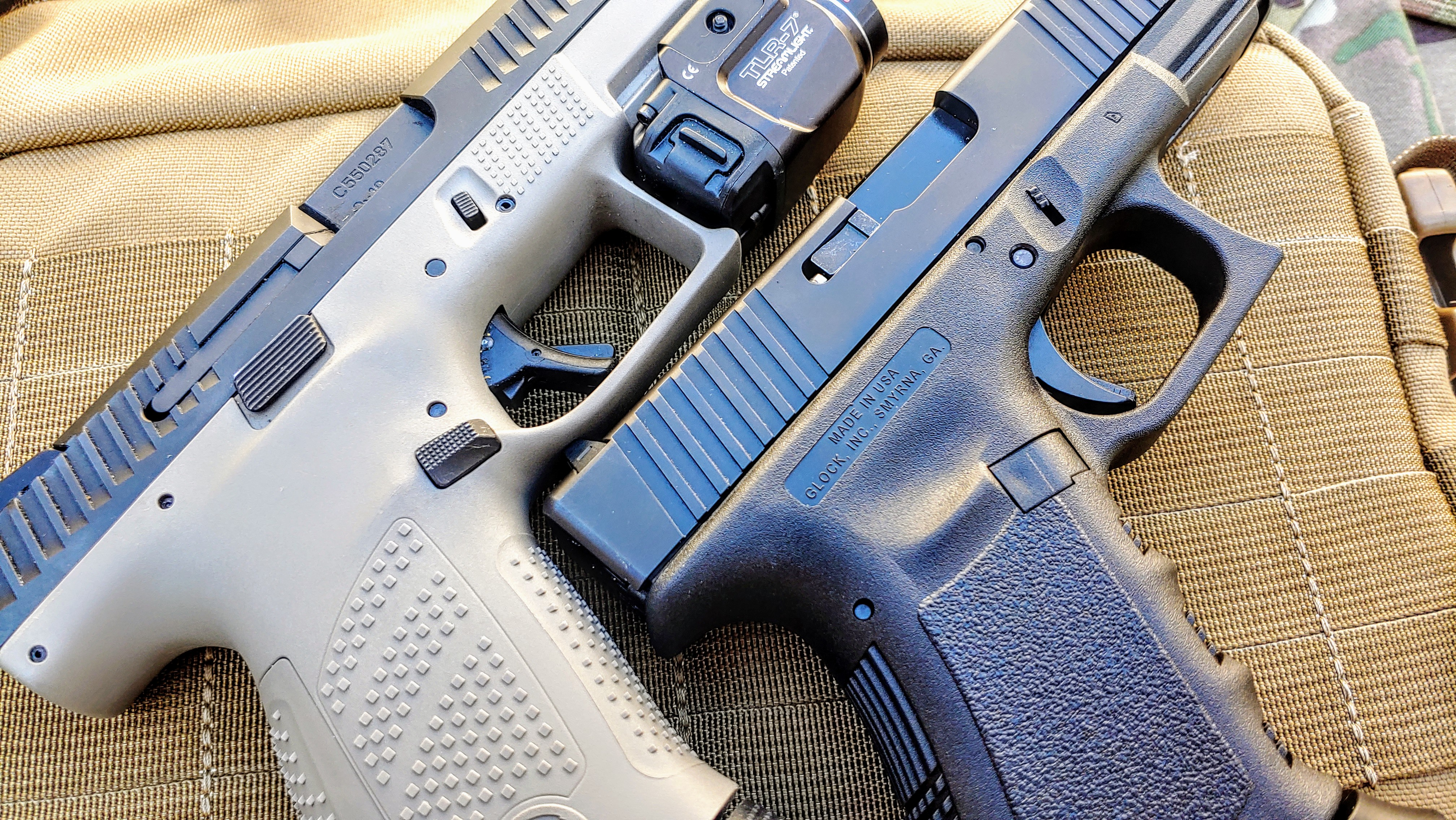 compact pistols, Glock, Glock 19, G19, CZ, CZ P10, CZ P10C, P10, P10C, hybrid holster, holsters, compact, concealed carry, Glock G19, concealed, best holster, IWB, OWB, pistols, carry pistol, best pistol, gun review, CrossBreed Holsters, holsters for concealed carry, holsters for, best holster, Streamlight, TLR-7, light-bearing holsters, holsters for Streamlight, LDS,