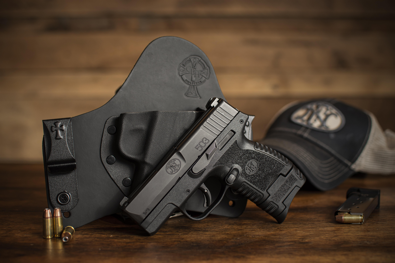 FN, FN 503, 9mm, pistol, FN handgun, IWB, OWB, CrossBreed Holsters, best holster, hybrid holsters, concealed carry, FN 503 pistol, striker-fired, FN new gun, new handgun, SuperTuck, FN America, hybrid holster, best holster for concealed carry, best hybrid holster, FN holsters, holsters for FN 503, FN America