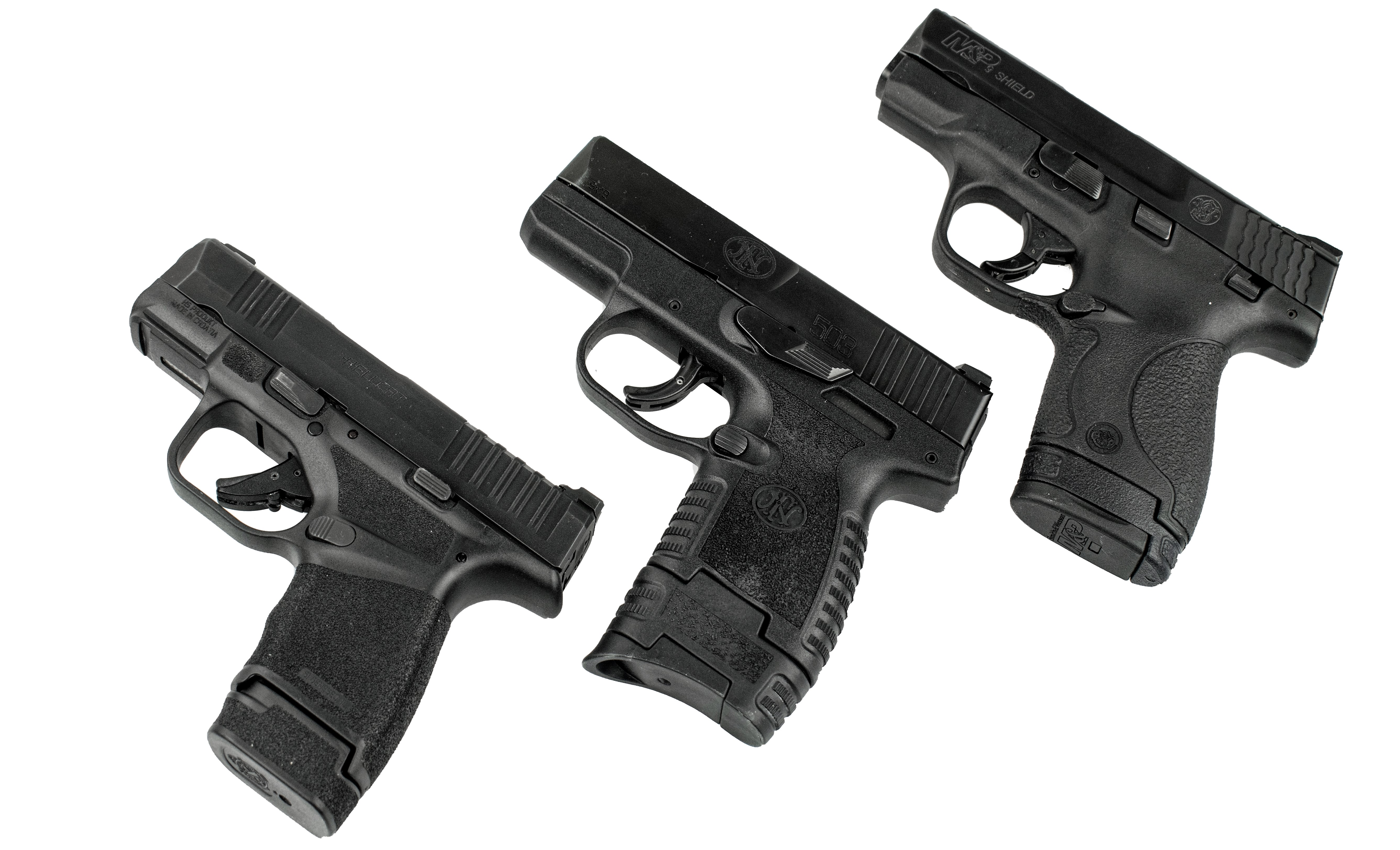 FN, FN 503, 9mm, pistol, FN handgun, IWB, OWB, CrossBreed Holsters, best holster, hybrid holsters, concealed carry, FN 503 pistol, striker-fired, FN new gun, new handgun, SuperTuck, FN America, hybrid holster, best holster for concealed carry, best hybrid holster, FN holsters, holsters for FN 503, Springfield Hellcat, Smith & Wesson Shield, Shield, Hellcat, 503, comparing handguns, handguns for concealed carry, concealed carry guns, Springfield Armory, Smith & Wesson