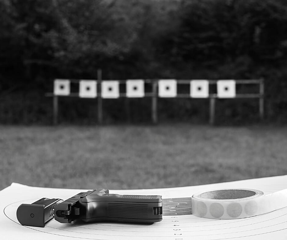 summer, gun range, range drills, drills, firearms training, target practice, Gunsite Academy, Michelle Cerino, Donna Anthony, CrossBreed Holsters, hybrid holsters, IWB, OWB, gun range drills, shots, target, pistols, self-defense, lockdown, quarantine, outdoor gun range, gun safety,