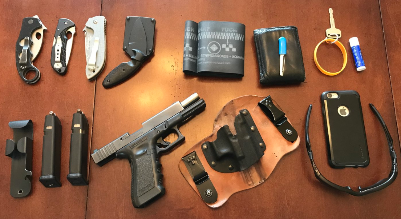 pandemic, lockdown, stay-at-home order, COVID-19, Coronavirus, safety, protection, home defense, self-defense, concealed carry, home carry, Netflix, Tiger King, Joe Exotic, homebound, Amazon, Wuhan, CrossBreed Holsters, hybrid holsters, IWB, OWB, law enforcement, EDC, everyday carry, loadout, tourniquet, knife, Glock