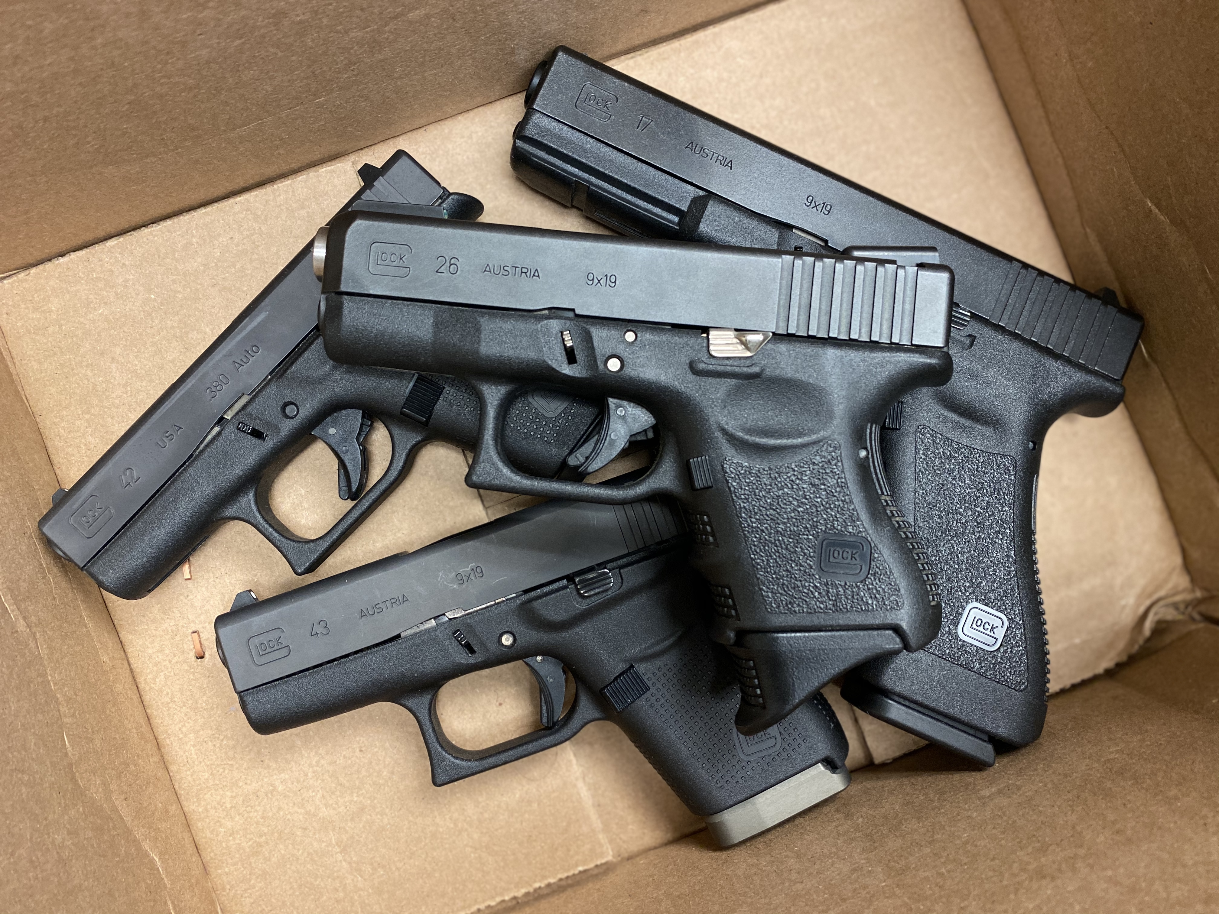 G26, G43, G42, Glock, Pistols, G17, Gen 1, CrossBreed Holsters, IWB, OWB, concealed carry, everyday carry, Glock guns, handgun, self-defense, ccw, ccp, guide to glock, glocks, box of glocks