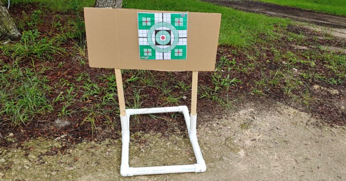 DIY, Home Range, Gun Range, Targets, Target stand, firearms training, range day, CrossBreed Holsters, concealed carry, responsibly armed, shooting sports, practice, target practice, paper targets, lockdown, COVID projects,