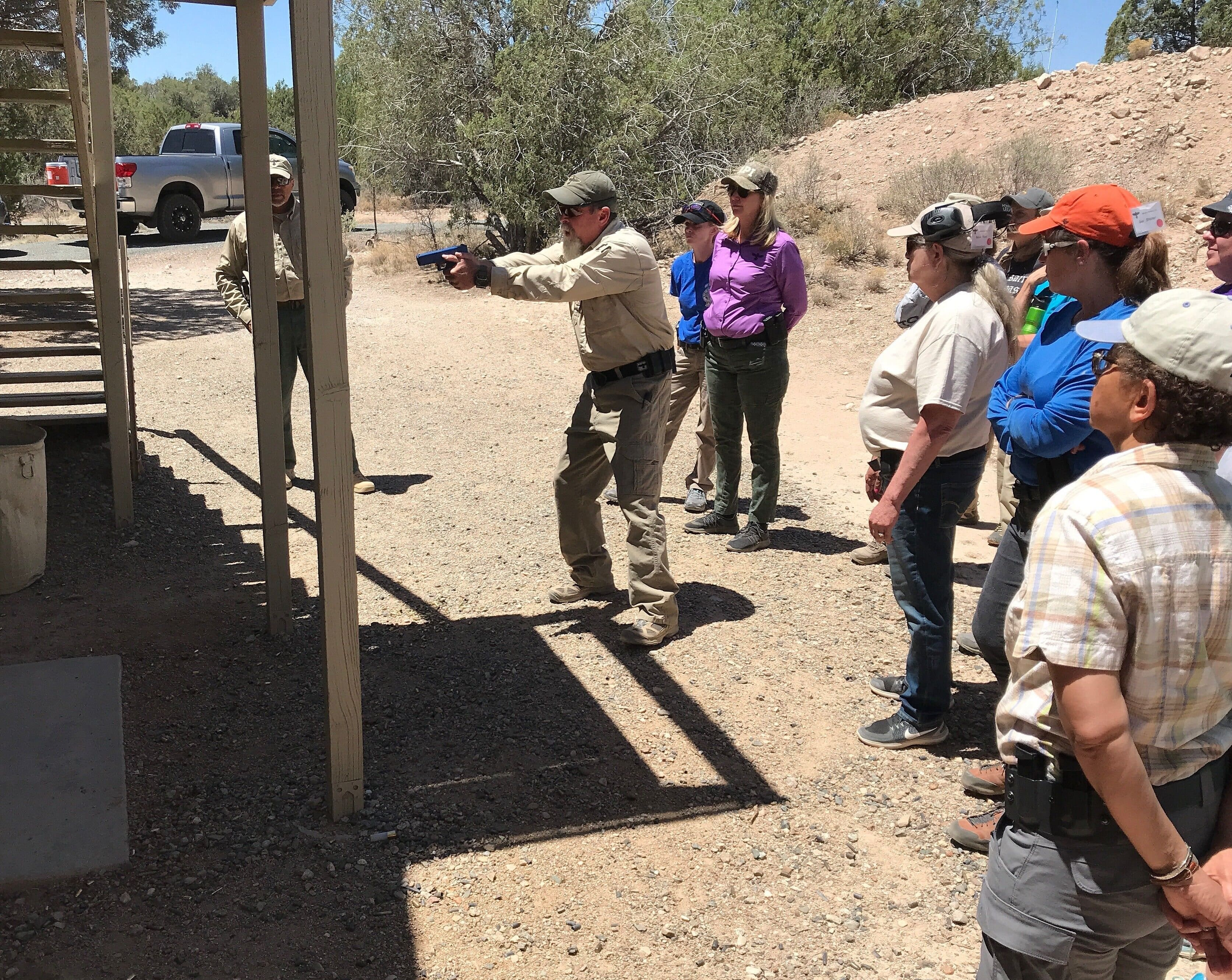 Gunsite Academy, firearms instructor, concealed carry, owb, range day, ladies pistol, gun training, firearms trainer, responsible, ccw, ccp, training course, weapons training, CrossBreed Holsters, instructors, teachers, shoot house, slice the pie, clearing rooms