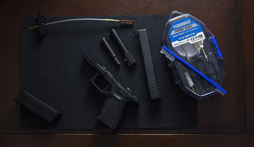 gun cleaning, CrossBreed Holsters, David Workman, OTIS cleaning, guns, handguns, glock, gun lube, how to clean your gun, pistols, concealed carry, IWB, OWB, cleaning guns