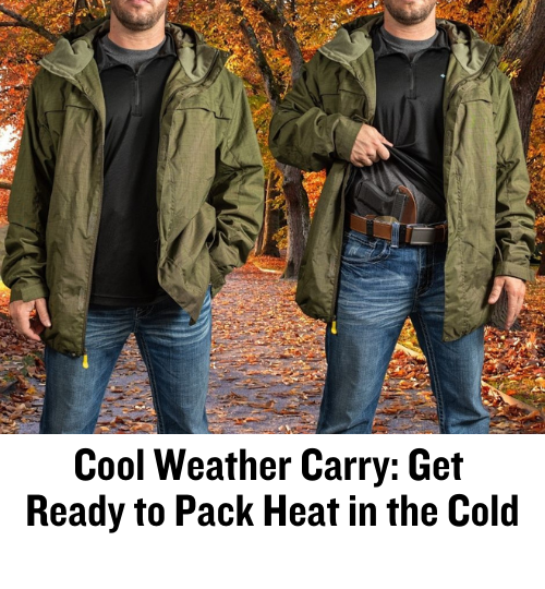 concealed carry, open carry, OWB, IWB, EDC, Responsibly Armed, CrossBreed Holsters, gun belt, cold weather, carry gun
