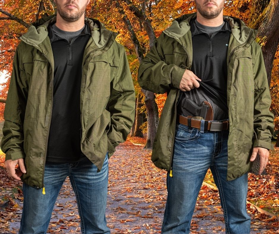 carry, carry gun, IWB, OWB, concealed carry, cool weather, responsibly armed, self-defense, holster, holsters, best holster for, hybrid holsters, CrossBreed Holsters, gun belt, AIWB, cold weather carry, carry gun, autumn, good guys, holsters made in america